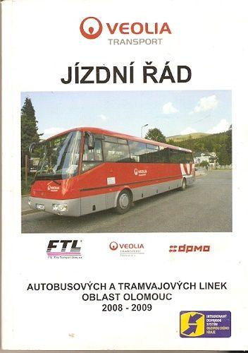 Jízdní řád autobusů a tramvají - Olomouc 2008 - 2009