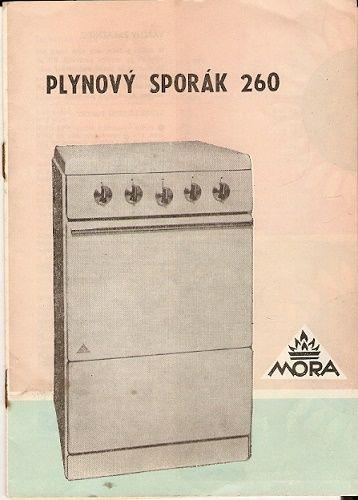 Plynový sporák Mora 260 - návod