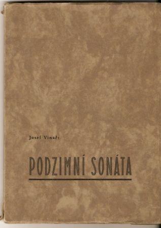Podzimní sonáta - J. Vinař, podpis autora 1937