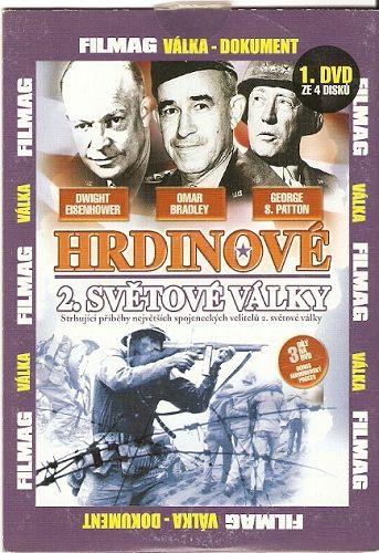 DVD Hrdinové 2. světové války - Patton, Bradley, Eisenhower