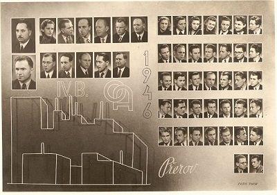 Tablo - Obchodní akademie Přerov 1946
