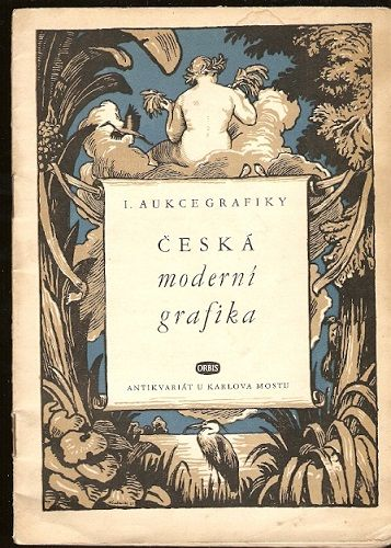 Česká moderní grafika - aukční katalog Orbisu z r. 1950