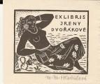 Ex libris S knihou u moře - M. Mrkvičková - Hlobilová - podpis