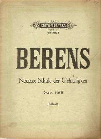Neueste Schule der Geläufigkeit (Nejnovější škola dokonalosti) pro piano forte - Berens