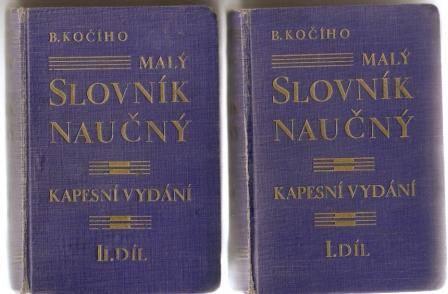 Malý slovník naučný 1 a 2 - B. Kočí