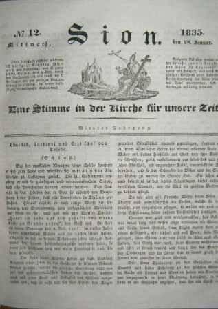 Sion - hlas církve naší doby (1835) - německy