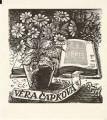 Ex libris Věra Čapková - J. Zdeněk