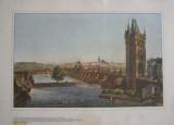 Hradčany, Malá Strana, Mostecká věž - Praha 1830 - V. Morstadt, ryl C. Richter