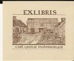Ex libris Carl Gustaf Malmborger - Hans Aze