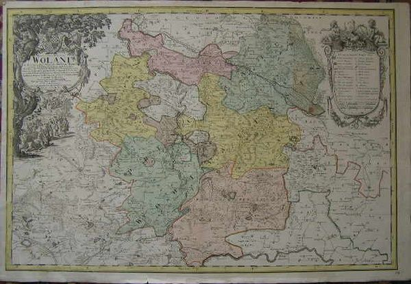Principatvs Silesiae Wolani - Volovské knížectví (Polsko) - J. W. Wieland