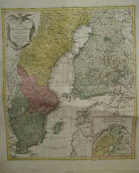 Švédsko, Norsko a Finsko - Regnum Sueciae et Gothiae una cum Nordlandia et Magno Ducatu Finlanndiae