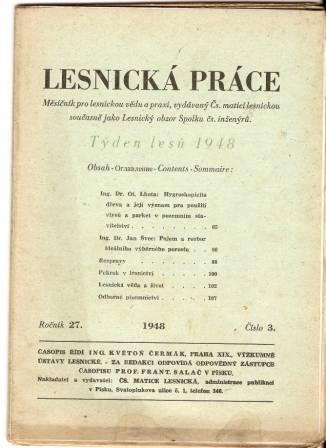 Lesnická práce 3/1948