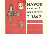 Návod na montáž poistného ventilu T 1847 - armatúrka Myjava