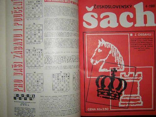 Československý šach 1980 a 1981 - svázáno (dva kompletní ročníky)