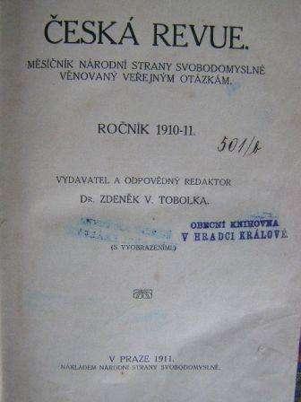 Česka revue 1910 - 11 - svázáno