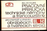 Pracovní příručka technické němčiny a francouzštiny pro montáž a obsluhu obráběcích strojů
