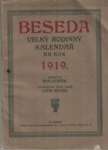Beseda - rodinný kalendář na rok 1919