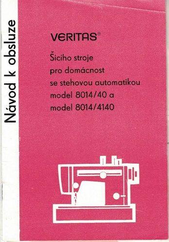 Šicí stroj Veritas - návod k obsluze