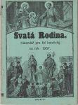 Svatá rodina 1937 - kalendář pro lid katolický