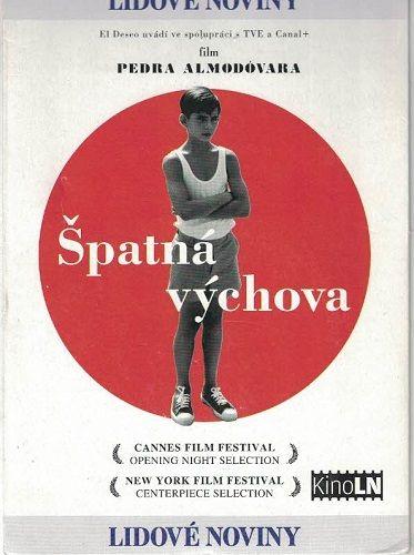 DVD Špatná výchova - Pedro Almodovar