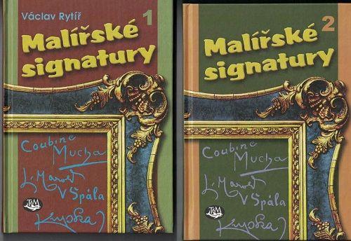 Malířské signatury 1 (V. Rytíř) a 2 - kol.autorů