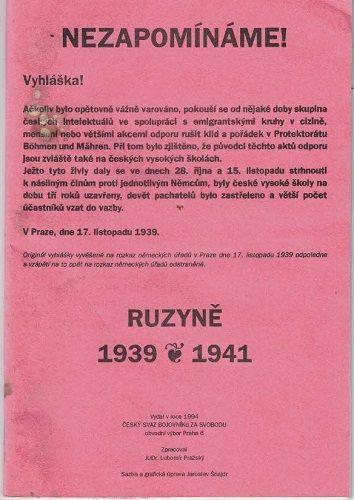 Praha Ruzyně 1939 - 1941