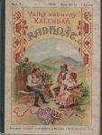Velký zábavný kalendář Radhošť na ro 1905