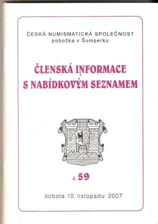 Nabídkový seznam České numismatické společnosti v Šumperku 2007 - č. 59