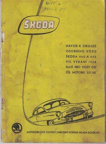 Škoda 440 a 445 - návod k obsluze