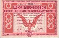 Los - Věcná loterie - X. všesokolský slet Praha 1938
