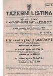 Tažební listina Věcné loterie X. všesokolského sletu v Praze 1938