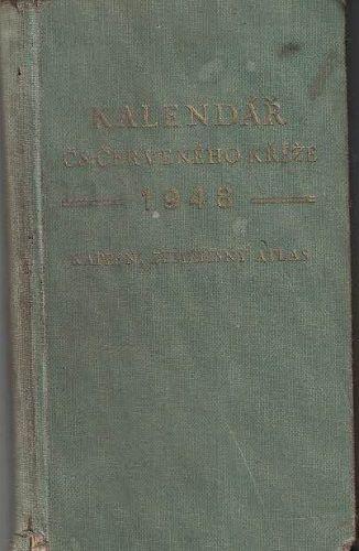 Kalendář Čs. červeného kříže 1948 - kapesní zeměpisný atlas