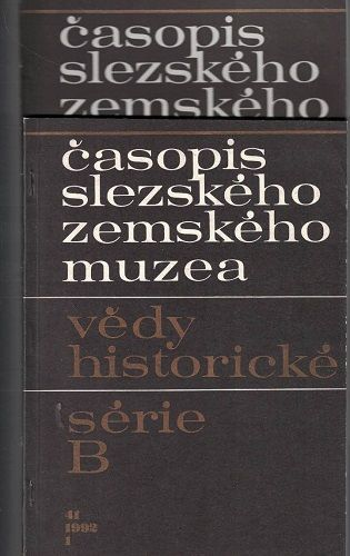 Časopis slezského zemského muzea 1 a 3/1992 - vědy historické
