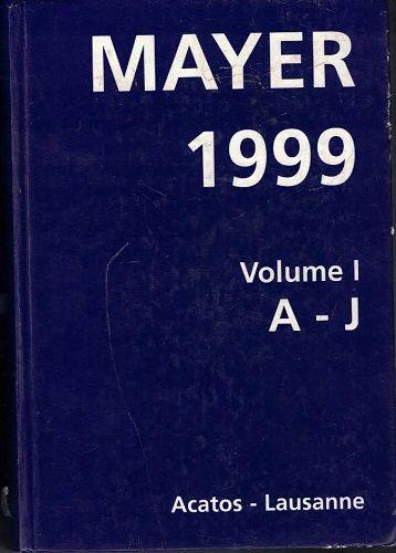 Mayer A - Z 1999 - katalog aukčních výsledků z r. 1999