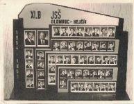 Tablo XI. B JSŠ Olomouc-Hejčín 1954 - 1957