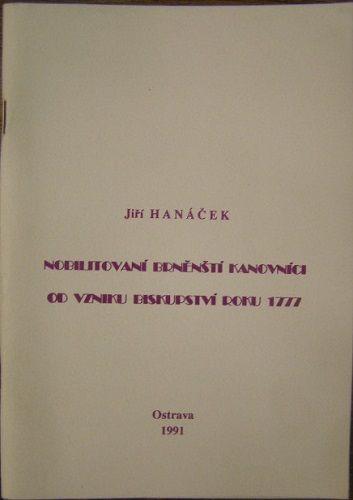 Nobilitovaní brněnští kanovníci od vzniku biskupství roku 1777