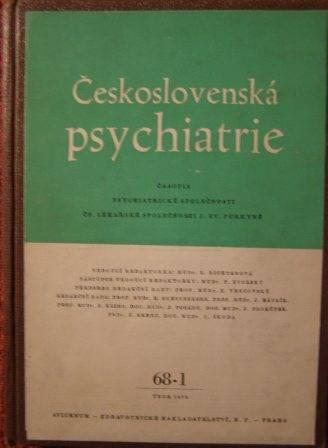 Československá psychiatrie 1972 (svázáno)