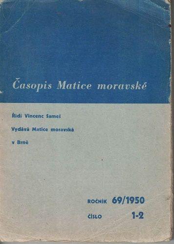 Časopis Matice moravské 1-2/1950