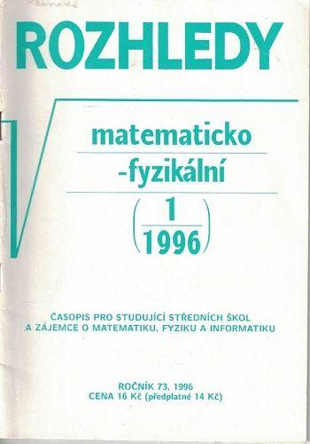 Rozhledy matematicko-fyzikální 1 - 6/1996 - kompletní ročník