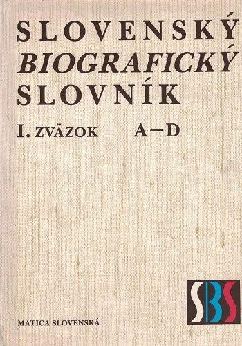 Slovenský biografický slovník I. - A - D