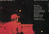 LP Elton John - Love Songs