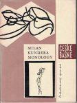 Monology - Milan Kundera