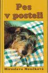 Pes v posteli  - M. Moučková (podpis autorky)