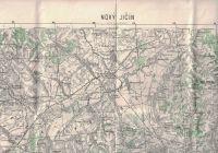 Mapa Nový Jičín a okolí - 1938