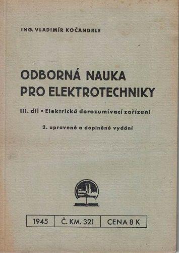 Odborná nauka pro elektrotechniky III.- V. Kočandrle