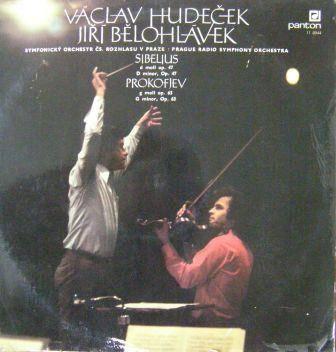 LP V. Hudeček a J. Bělohlável - Sibelius a Prokofjev