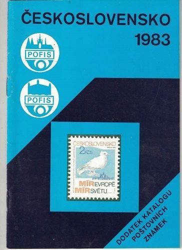 Československo 1983 - dodatek katalogu poštovních známek