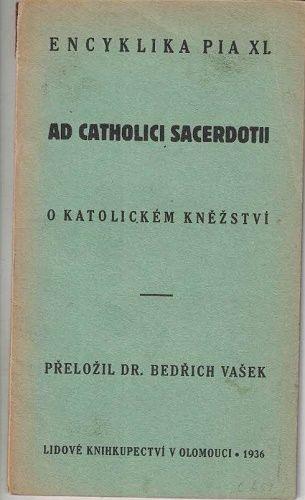 Encyklika Pia XI. - O katolickém kněžství