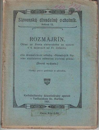 Rozmajrín (slovensky) - Fr. Urbánek