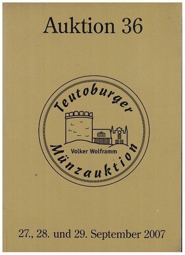 Aukční katalog Teutoburger Münzauktion 2007 - mince, medaile, plakety